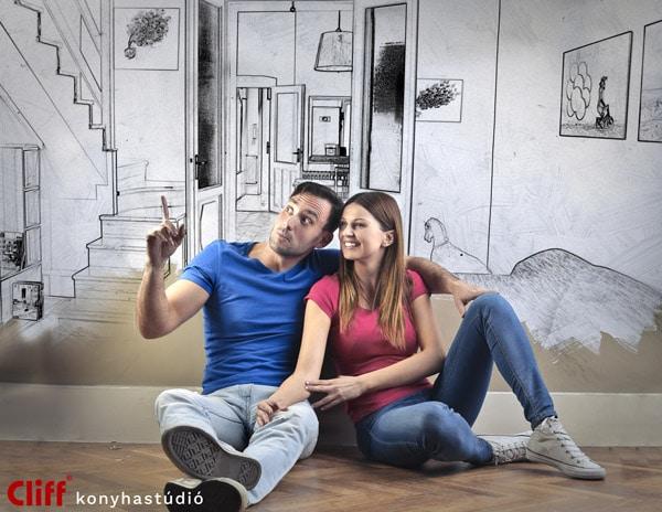 Konyhabútor és lakásberendezés házaspárnak - Cliff konyhabútor