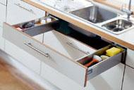 Praktikus konyhafiók - konyha berendezés - Cliff konyhabútor