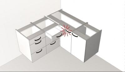 Konyhatervezés szabályok - fiókok kihúzása - Cliff konyhabútor