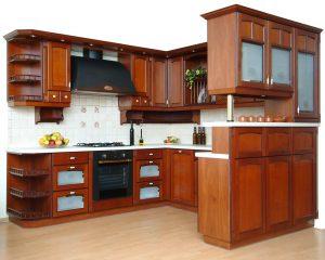 barna klasszikus konyha - Honig konyhabútor U alakú - Cliff konyhák Sopron