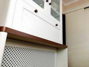 U alakú konyha - fehér vintage konyha - Cliff konyhabútor 4