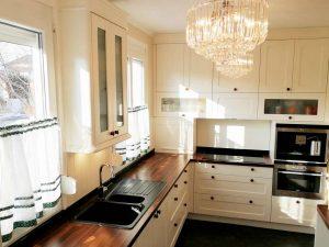 U alakú konyha - fehér vintage konyha - Cliff konyhabútor 11
