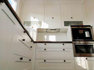U alakú konyha - fehér vintage konyha - Cliff konyhabútor 9