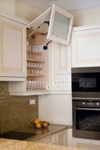 G alakú konyha - fehér vintage konyha - Cliff konyhabútor 5