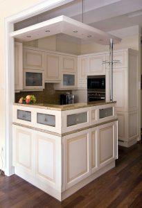 G alakú konyha - fehér vintage konyha - Cliff konyhabútor 2
