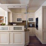 G alakú konyha - fehér vintage konyha - Cliff konyhabútor 1