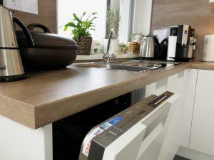 Modern L alakú konyha mosogatógép - fehér Palace konyha - Cliff konyhabútor 18