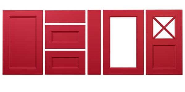 Konyhabútor ajtók: König konyhafront - Cliff konyhabútor - piros