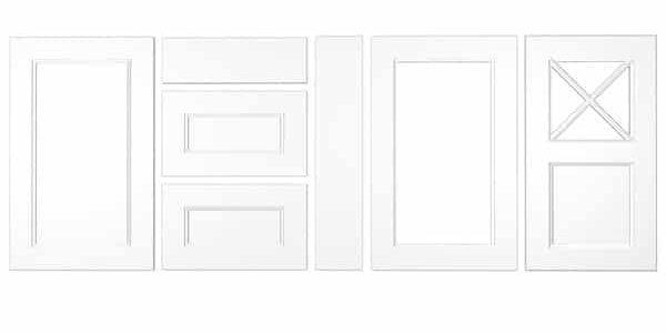 Konyhabútor ajtók: König konyhafront - Cliff konyhabútor - fehér