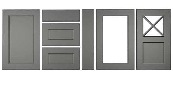 Konyhabútor ajtók: König konyhafront - Cliff konyhabútor - fekete