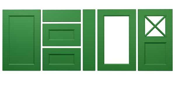 Konyhabútor ajtók: König konyhafront - Cliff konyhabútor - mohazöld