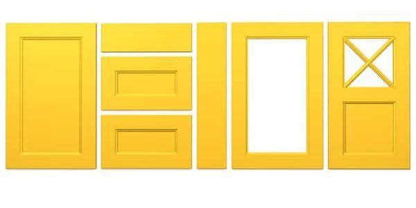 Konyhabútor ajtók: König konyhafront - Cliff konyhabútor - napsárga