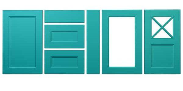 Konyhabútor ajtók: König konyhafront - Cliff konyhabútor - tengerkék