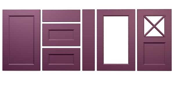 Konyhabútor ajtók: König konyhafront - Cliff konyhabútor - lila