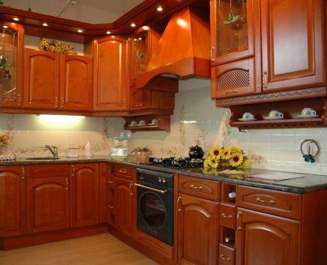 Barna klasszikus konyha - Anna konyhabútor L alakú - Cliff konyhák Sopron