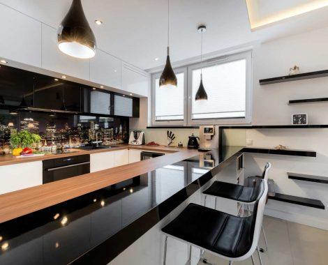 Fehér, fekete modern konyhabútor - Carmel modern konyha - Cliff konyhák Sopron