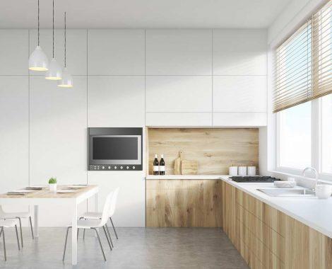 Fehér modern konyhabútor - Carmel modern konyha - Cliff konyhák Sopron