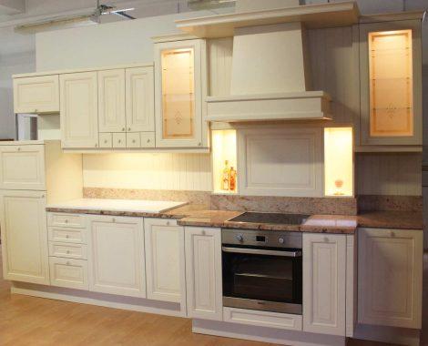 Fehér Vintage konyha - Hermon konyhabútor I alakú - Cliff konyhák Sopron