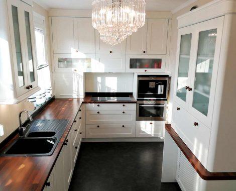 Fehér Vintage konyha - Shalem konyhabútor - Cliff konyhák Sopron